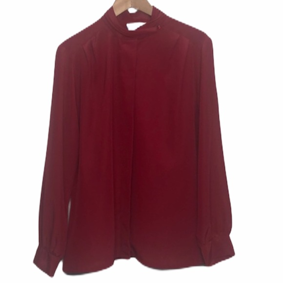 Pendelton Classic Vintage Red Long Sleeve Blouse